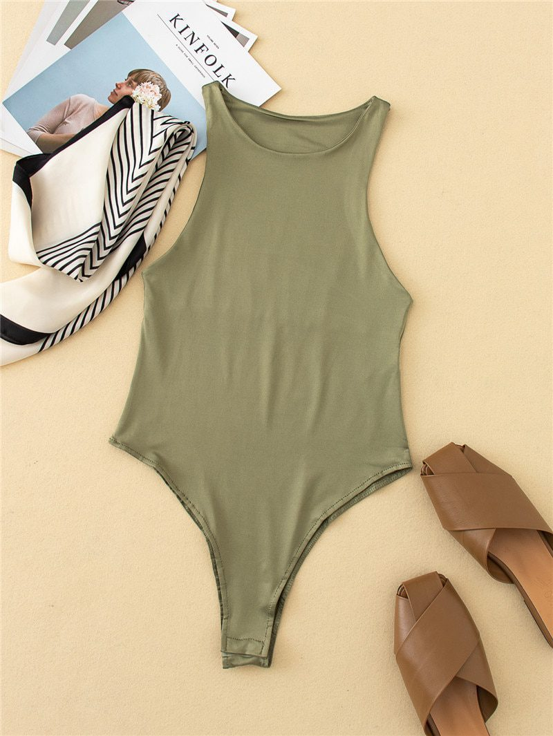 Slim beach body suit with many colors