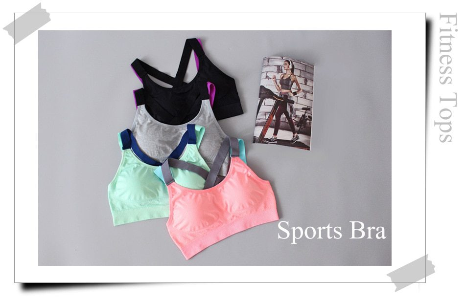 Cross Straps Top Bra for Sports and Fitness