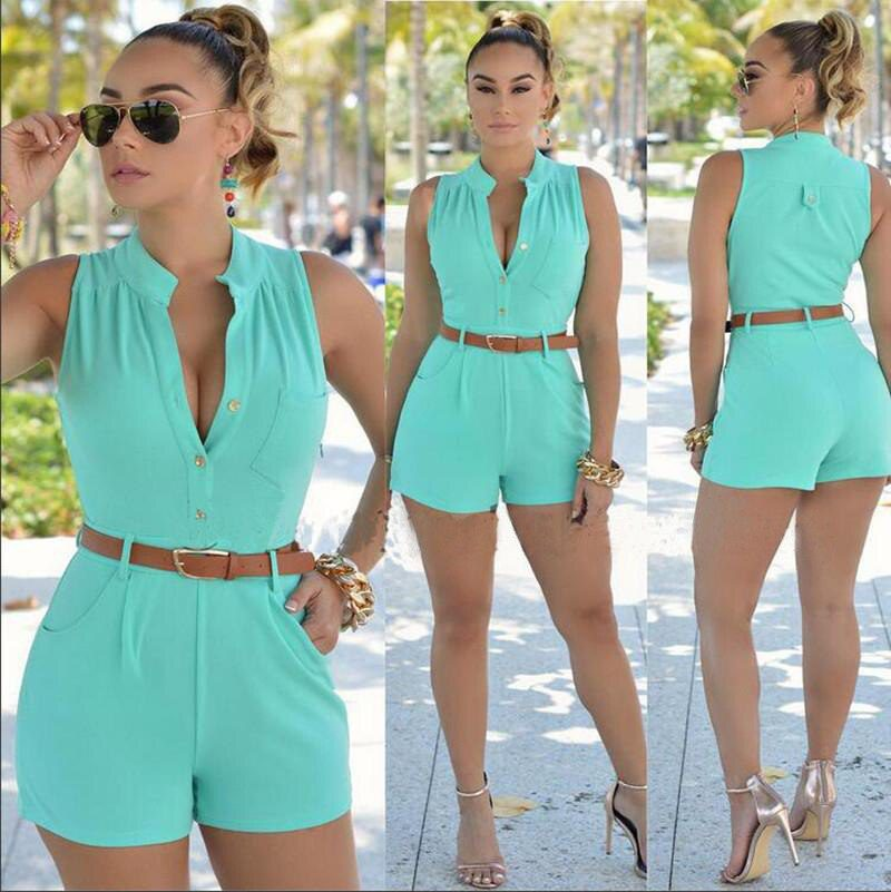 Deep V-neck Casual New Style Rompers with many colors