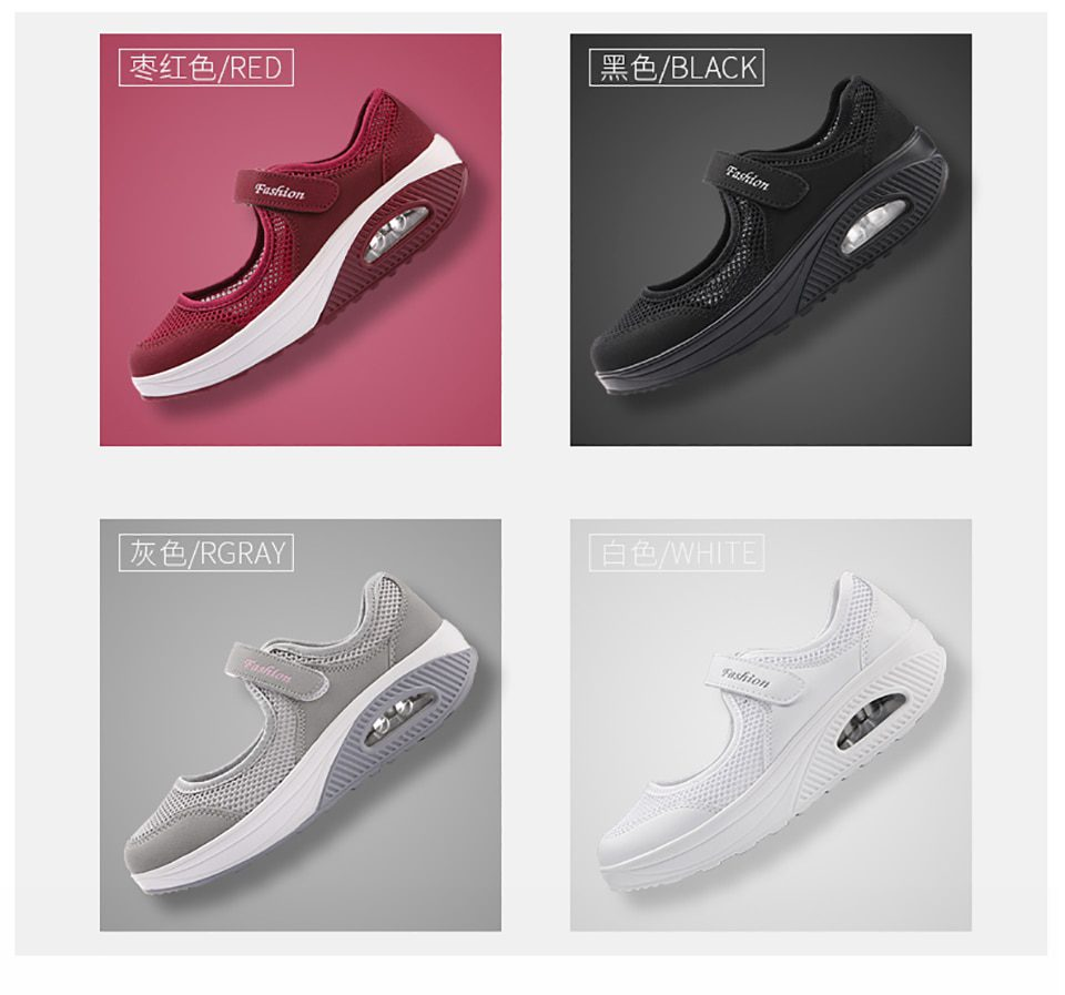 Breathable Flat Platform Sneakers Shoes