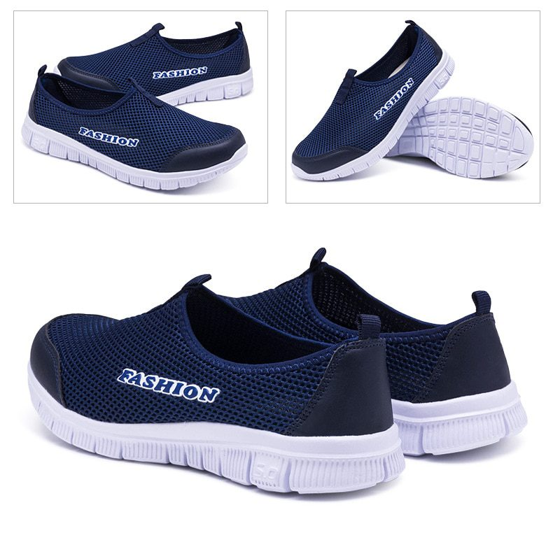 Outdoor Walking Sneakers Mesh Light Flat Breathable
