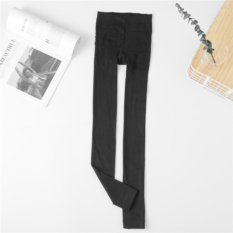 Autumn Winter Legging Brushed Lining Stretch Fleece Pants