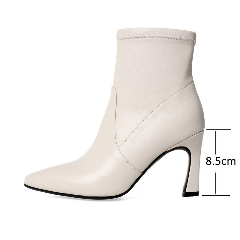 Pointed Toe Ankle Boots with Zipper for Winter & Autumn