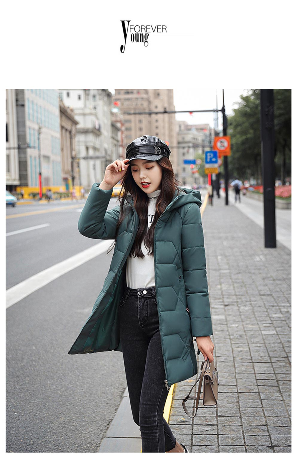 Winter Solid Thick Long Parkas Jacket Women 2020 Plus Size 4XL Hooded Cotton Padded Loose Coat Ladies Jacket