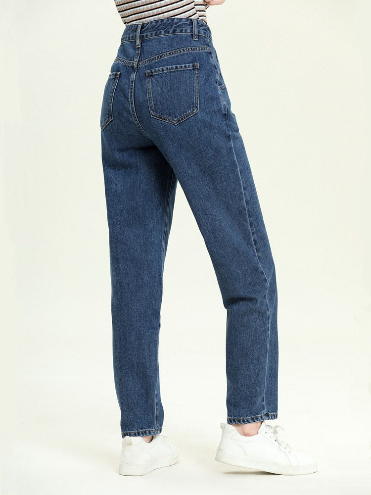 High Waist Blue Jeans Pants Trousers
