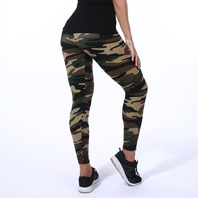 Camouflage Army Graffiti Slim Stretch leggings