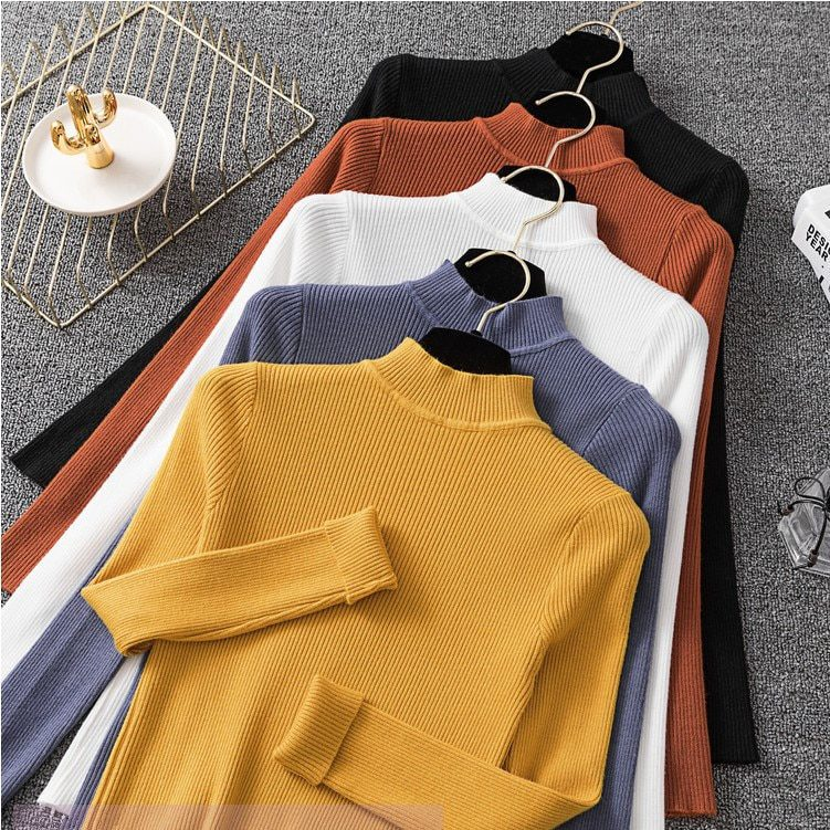 Long Sleeve Turtleneck Knitted Sweater