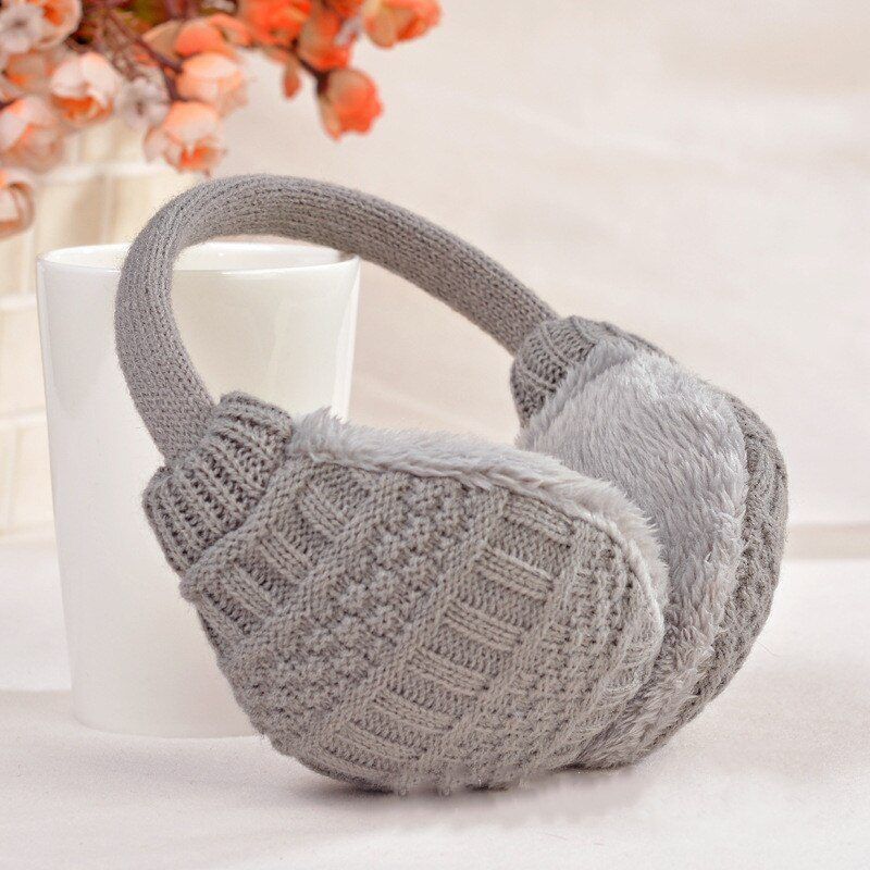 Winter Warm Knitted Earmuffs for Girls and Boys