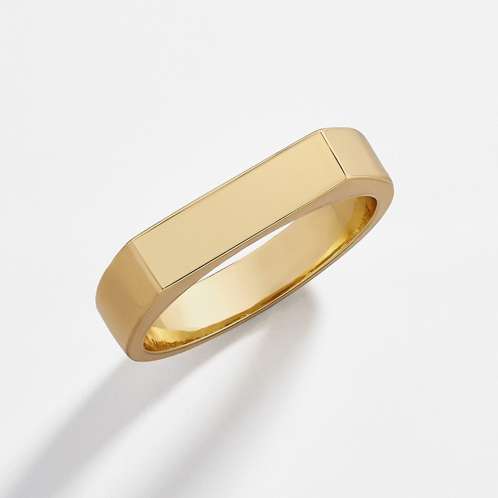 Minimalist Golden Color Chunky Round Circle Rings Jewelry